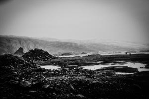 skaftafell black & white