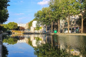 rare tranquility in paris is found at the canal st. martin