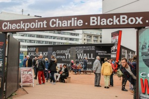 i'm clearly a spy. at checkpoint charlie
