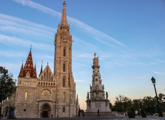 buda cathedral at sunset
