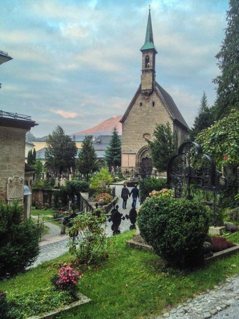 old cemetary in salzburg, austria