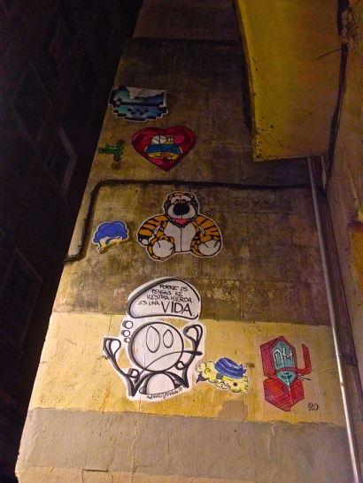 weird barcelona graffiti