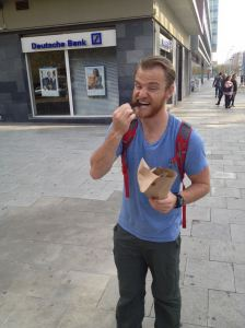 chocolate covered churros are a local guilty pleasure in barcelona