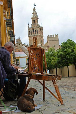 el pintor y el perro